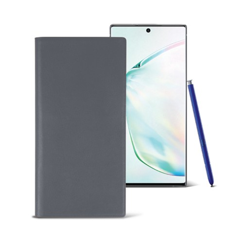 Samsung Galaxy Note10+ Wallet Case - Mouse-Grey - Smooth Leather