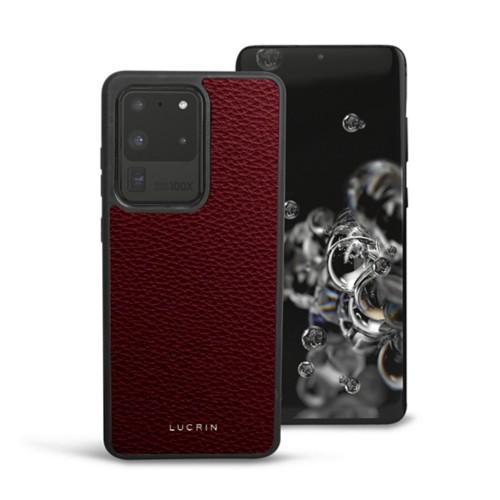 Cover voor Samsung Galaxy S20 Ultra - Bordeaux - Korrelig Leer