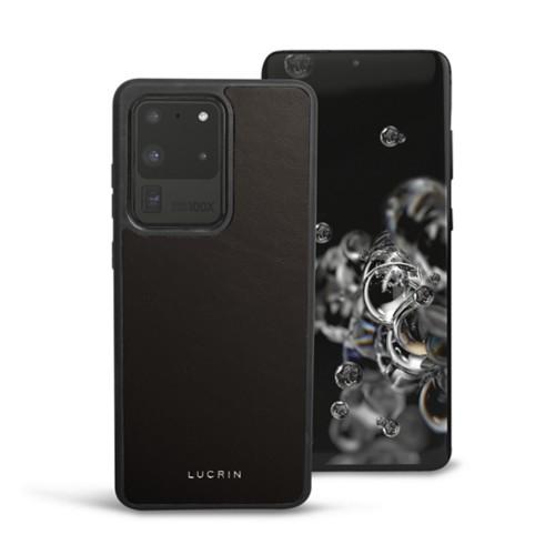 Cover voor Samsung Galaxy S20 Ultra - Donkerbruin - Soepel Leer