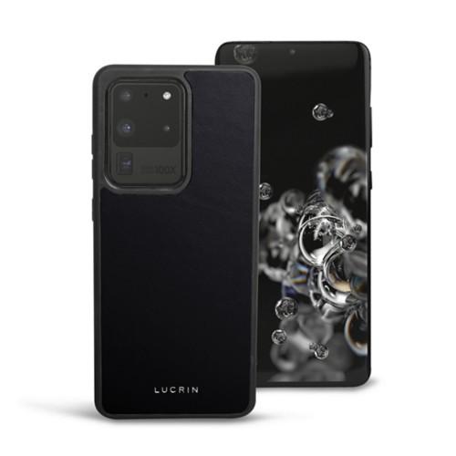 Cover voor Samsung Galaxy S20 Ultra - Zwart - Soepel Leer