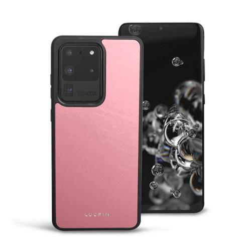 Cover voor Samsung Galaxy S20 Ultra - Roze - Soepel Leer