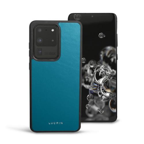 Cover voor Samsung Galaxy S20 Ultra - Turquoise - Soepel Leer