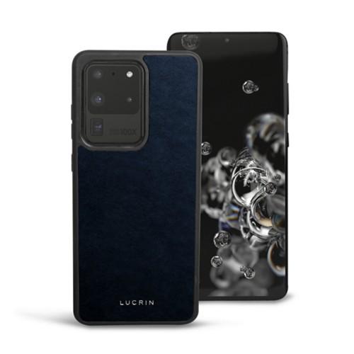 Cover voor Samsung Galaxy S20 Ultra - Marineblauw - Plantaardig gelooid leer