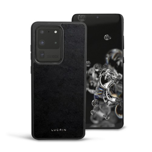 Cover voor Samsung Galaxy S20 Ultra - Zwart - Plantaardig gelooid leer