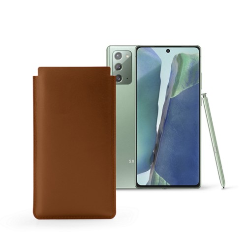 Classic Sleeve for Samsung Galaxy Note 20 - Tan - Smooth Leather