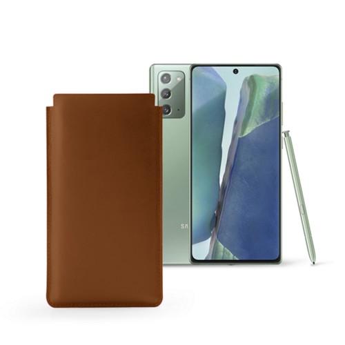 Étui Classique Samsung Galaxy Note 20 - Cognac - Cuir Lisse