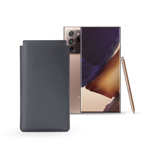 Étui Classique Samsung Galaxy Note 20 Ultra - Gris Souris - Cuir Lisse