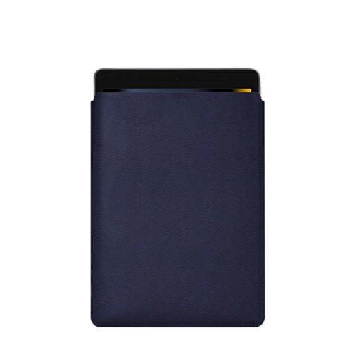 Housse iPad - Bleu Marine - Cuir Grainé