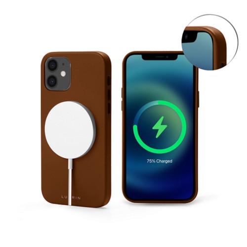 iPhone 12 Mini MagSafe Case - Tan - Smooth Leather