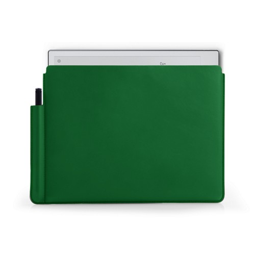 reMarkable 2 Sleeve Case - Light Green - Smooth Leather