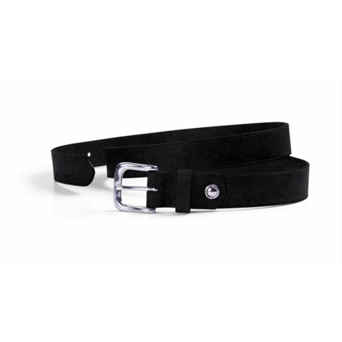 Sports Belt – Width 0.12 inches - Black - Vegetable Tanned Leather