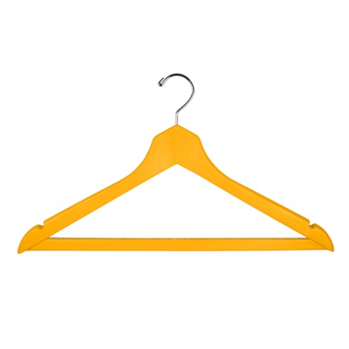 Clothes hanger - Sun Yellow - Smooth Leather