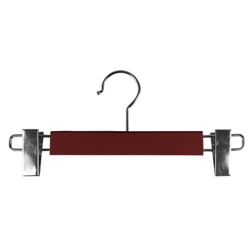 Hanger with clips - Burgundy - Smooth Leather