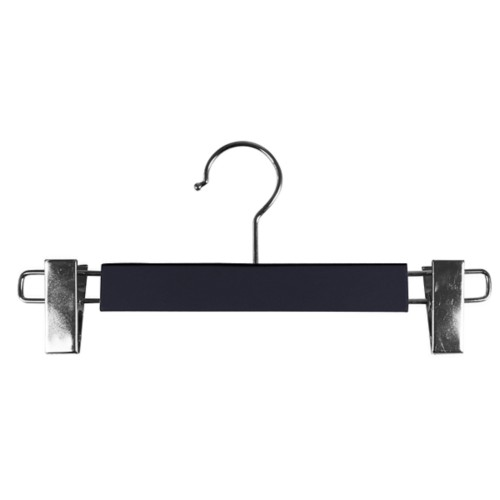 Hanger with clips - Navy Blue - Smooth Leather