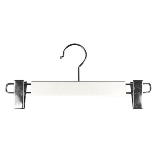 Hanger with clips - White - Smooth Leather