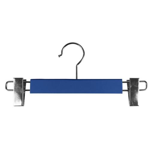 Kleerhanger met clips - Koningsblauw - Soepel Leer
