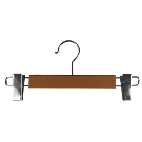 Hanger with clips - Tan - Smooth Leather