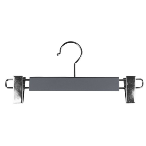 Hanger with clips - Mouse-Grey - Smooth Leather