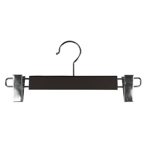 Hanger with clips - Dark Brown - Smooth Leather