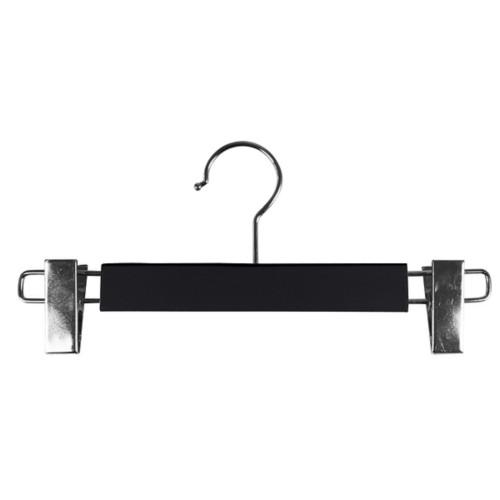 Kleerhanger met clips - Zwart - Soepel Leer
