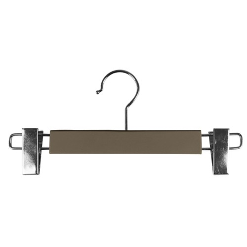 Hanger with clips - Dark Taupe - Smooth Leather