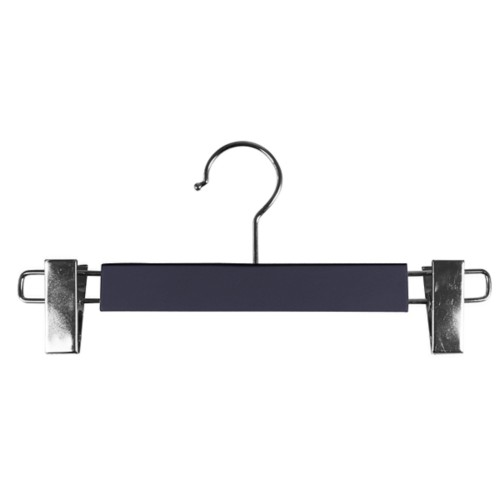 Hanger with clips - Purple - Smooth Leather