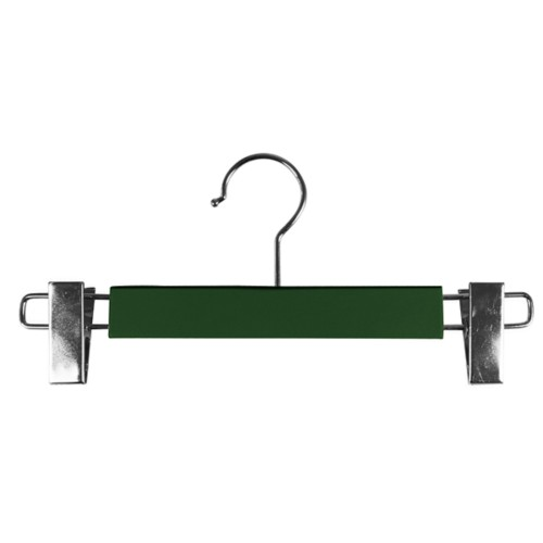 Hanger with clips - Dark Green - Smooth Leather