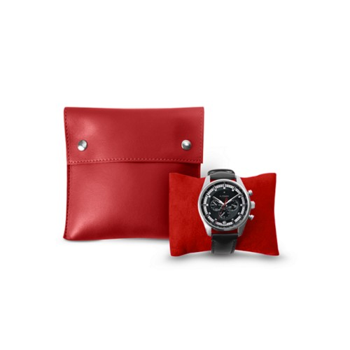 Squared watch pouch