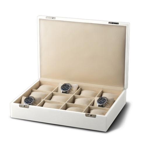 Luxus-Uhrenkoffer mit 12 Fächern