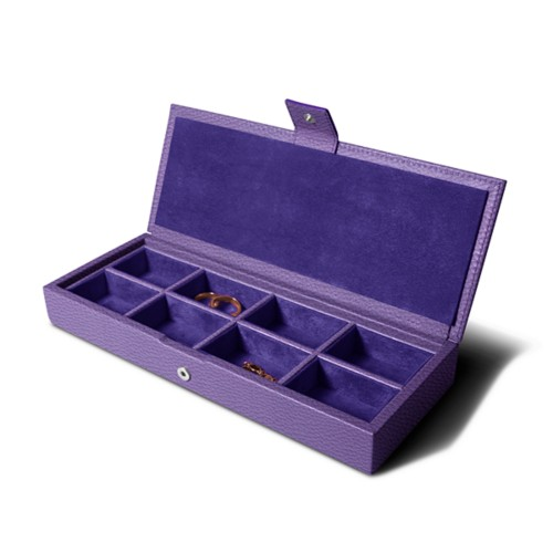 Jewelry box - Lavender - Granulated Leather