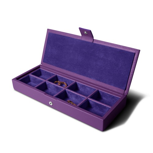 Jewelry box - Lavender - Smooth Leather
