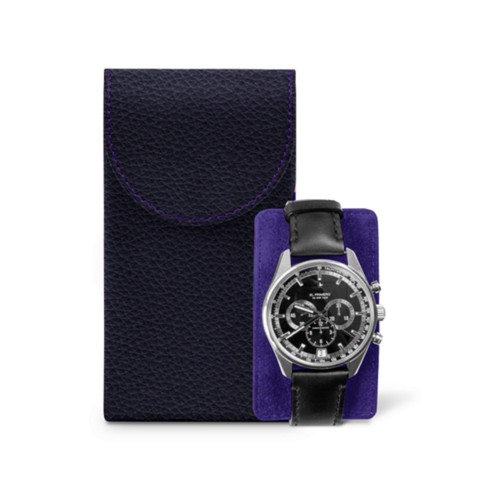 Watch Case - Purple - Granulated Leather