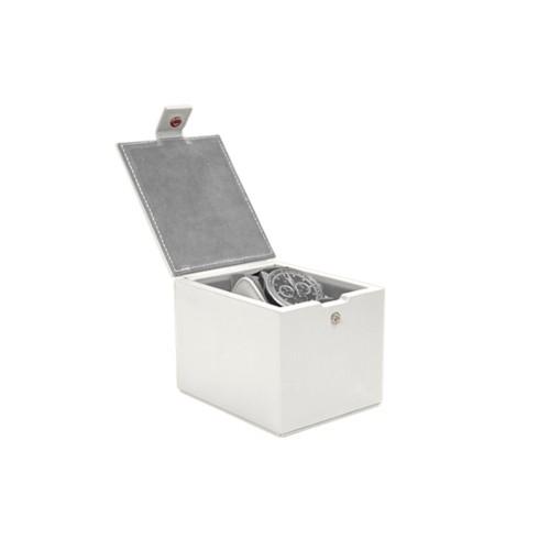 Boîte à montre pour 1 montre - Blanc - Cuir Lisse