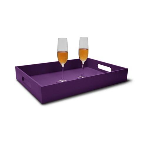 Dienblad met handvat (50 x 35 cm) - Lavendel - Soepel Leer