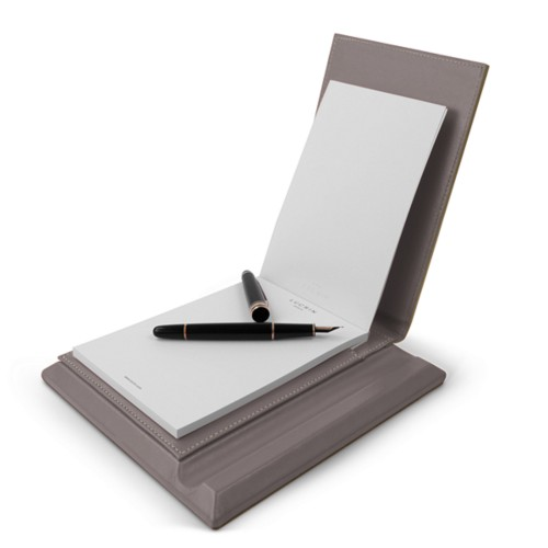 Luxury Notepad - Light Taupe - Smooth Leather