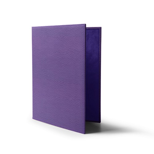 A4-Speisekartenumschlag - Lavendel - Genarbtes Leder