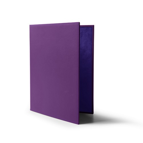 A4-Speisekartenumschlag - Lavendel - Glattleder