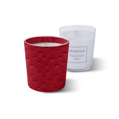 Mizensir Candle by Lucrin - Red - Real Ostrich Leather