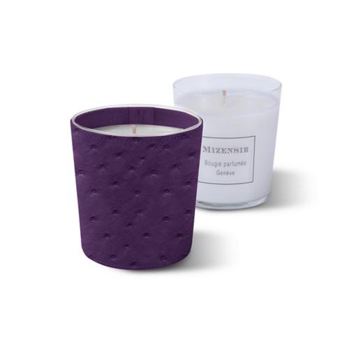 Mizensir Kerze von Lucrin - Violett - Echtes Straußenleder