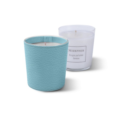 Mizensir Candle by Lucrin - Sky Blue - Goat Leather