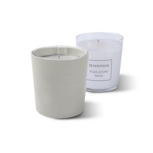 Mizensir Candle by Lucrin - White - Goat Leather