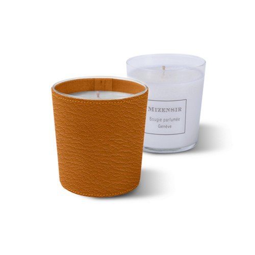 Mizensir Candle by Lucrin - Saffron - Goat Leather