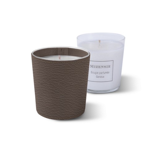 Mizensir Candle by Lucrin - Dark Taupe - Goat Leather