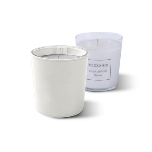 Mizensir Kerze von Lucrin - Weiß - Glattleder