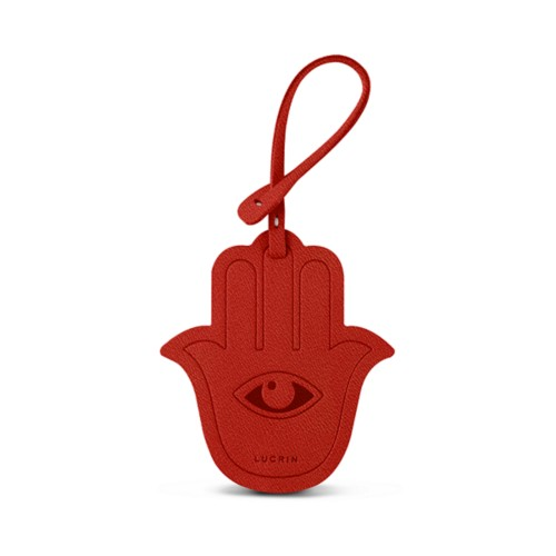 The Hamsa Lucky Charm - Red - Goat Leather