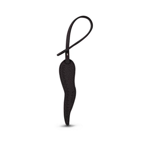 Cornicello-Glücksanhänger - Dunkelbraun - Ziegenleder
