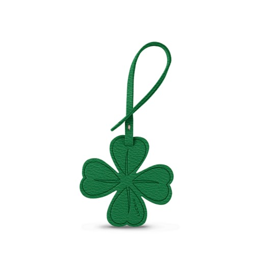 Four-leaf Clover Lucky Charm - Light Green - Goat Leather