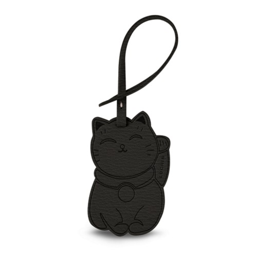Maneki-neko Lucky Charm - Mouse-Grey - Goat Leather