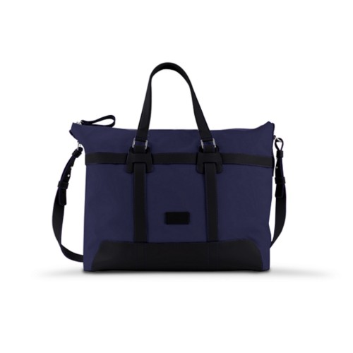 Sac voyage 48h - Bleu Marine-Noir - Toile Coton