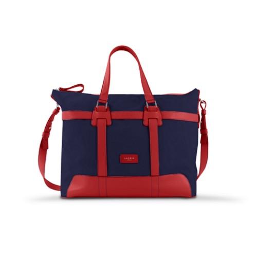 Sac voyage 48h - Bleu Marine-Rouge - Toile Coton
